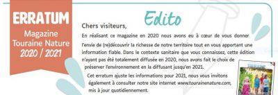 Erratum Tourist Guide 2021